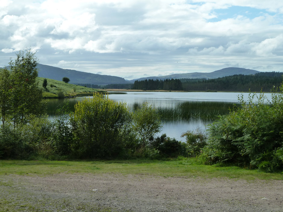 Loch Stroan in the Galloway forest