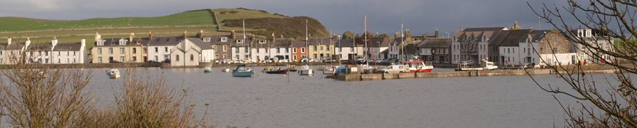 Isle of Whithorn at high tide in the evening
