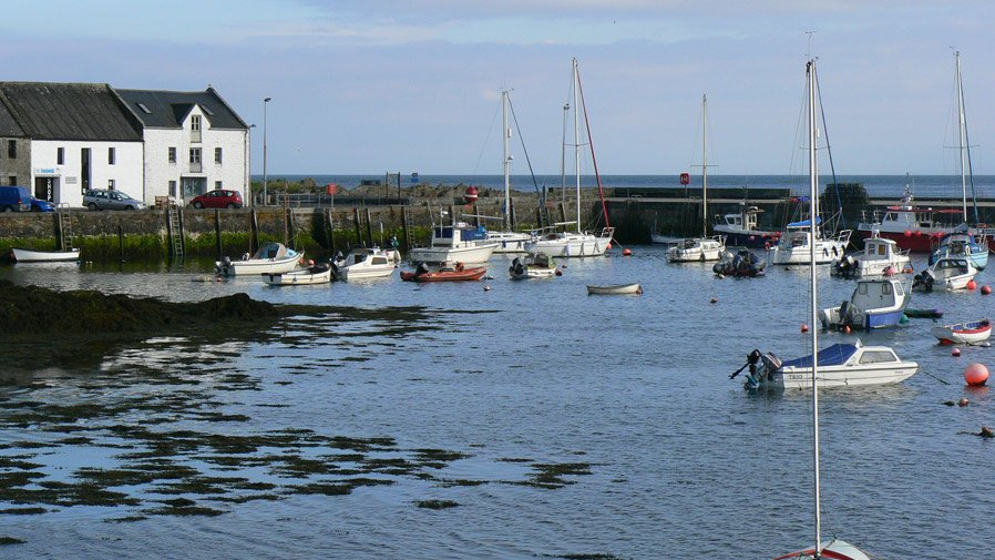 View of the harbour at Isle of Whithorn